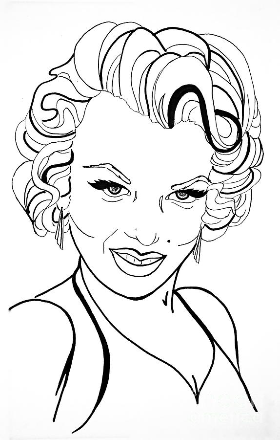 Marilyn Monroe Drawing at GetDrawings.com | Free for ...