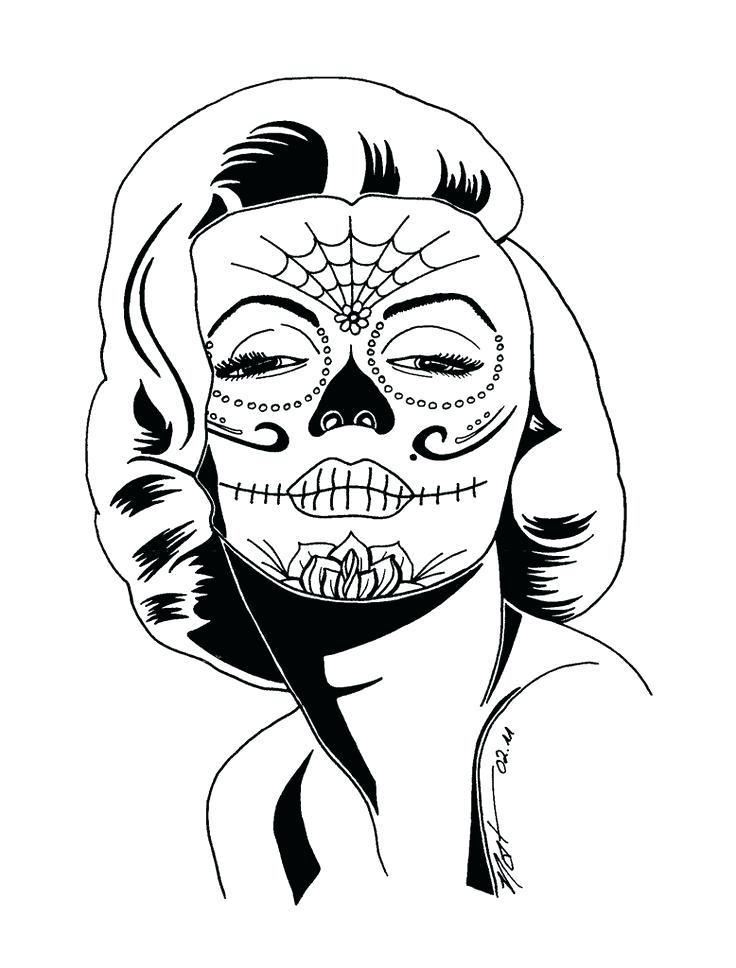 736x968 Marilyn Monroe Coloring Pages Black And White Clip Art Library