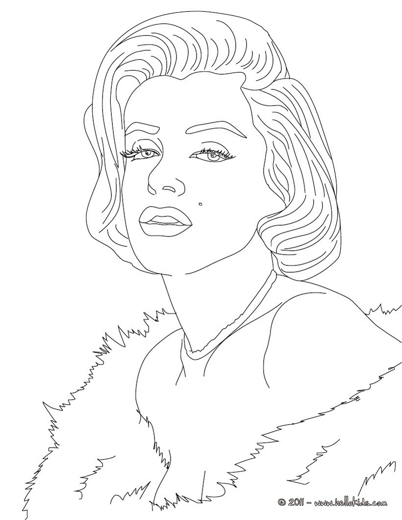 820x1060 Marilyn Monroe Coloring Pages Books Intended For Designs 1