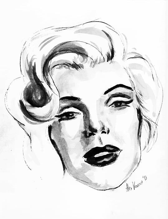 538x700 Marilyn Monroe Portrait In Black And White Canvas Print Canvas