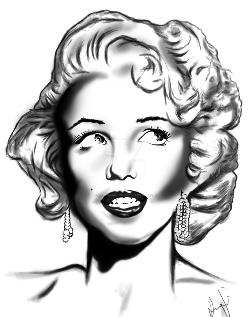 1024x1297 Marilyn Monroe By Geryes Mansour