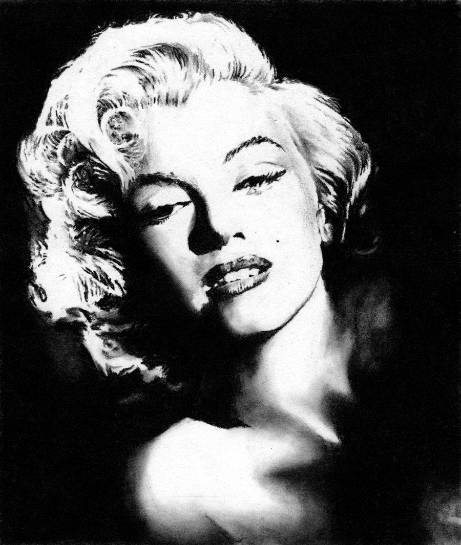 900x1065 Black And White Marilyn Monroe Stencil Marilyn Monroe No.1 By