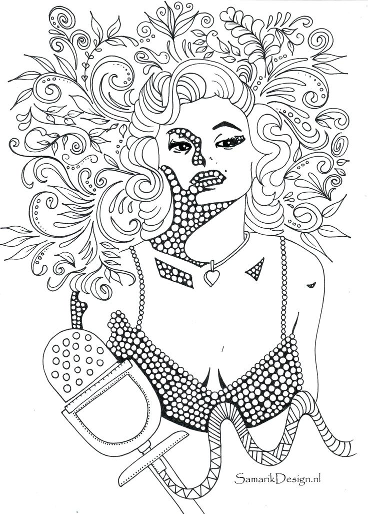 736x1027 Delightful Marilyn Monroe Coloring Pages Print Best To Famous