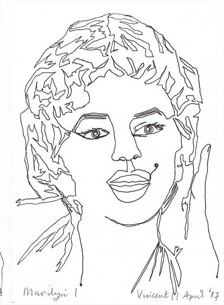 441x600 Drawing Project Marilyn Monroe By Vincent Da Vinci Artgallery.co.uk
