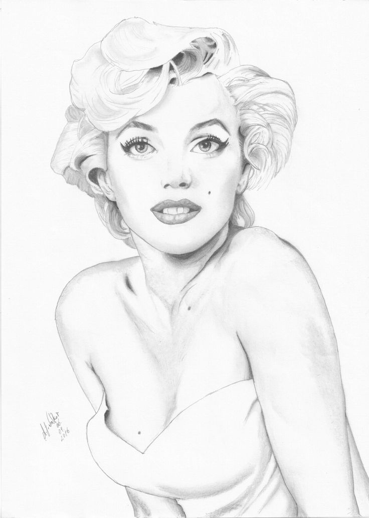 It is a picture of Crush Marilyn Monroe Drawing Outline