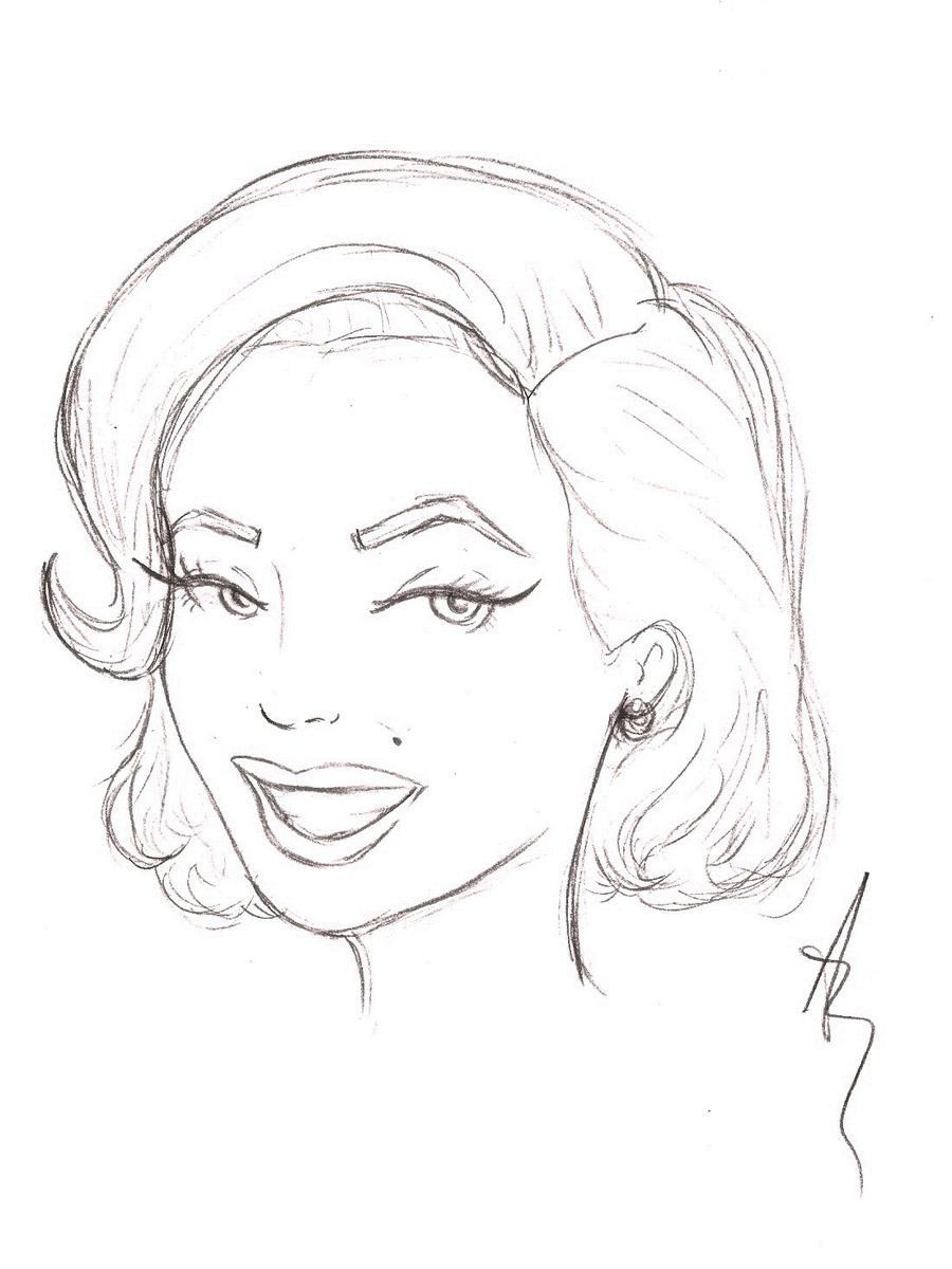 900x1200 Marilyn Monroe Cartoon Drawing How To Draw Marilyn Monroe Cartoon
