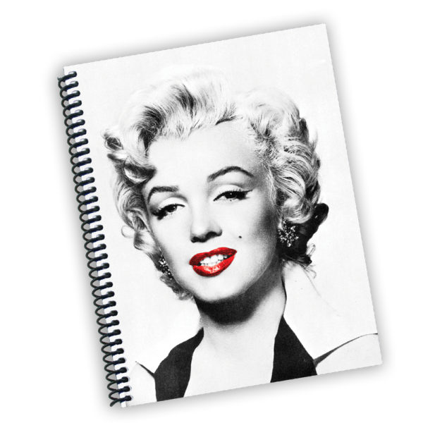 600x600 Marilyn Monroe Red Lips Notebook 9lines