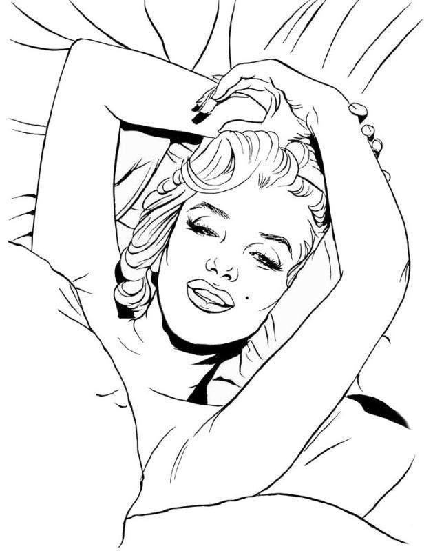 629x799 Marilyn Monroe Coloring Pages 16 Marilyn Monroe Sugar Skull