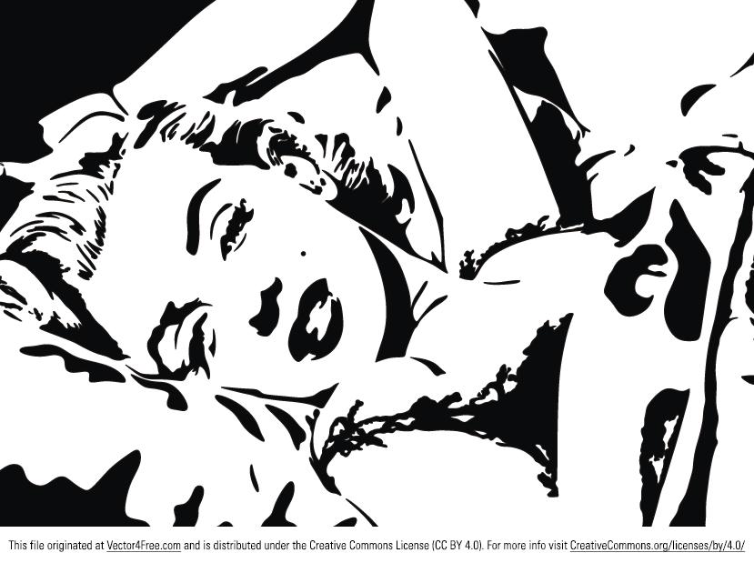 829x619 Free Marilyn Monroe Vector Portrait
