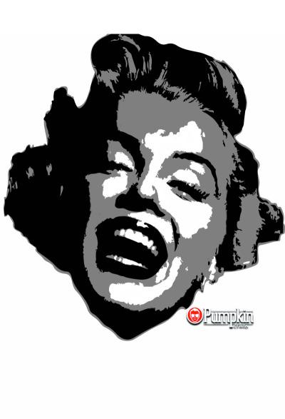 400x587 Marilyn Monroe Pumpkin Stencil