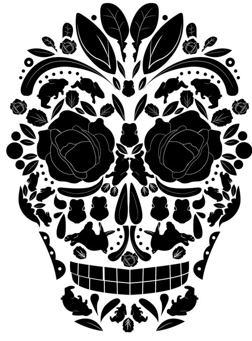 500x676 Mexican Skull Drawings Tumblr