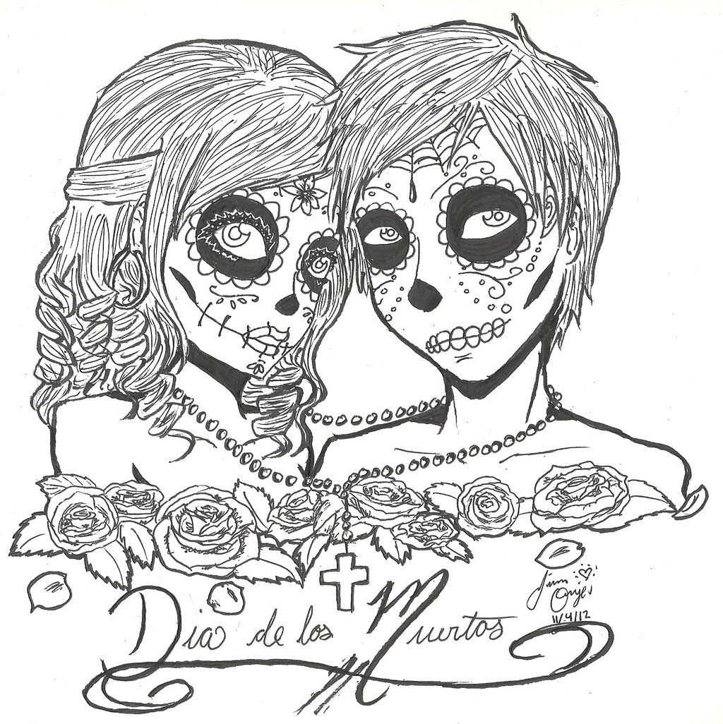 1024x1026 Stunning Sugar Candy Skulls Coloring Pages Contemporary