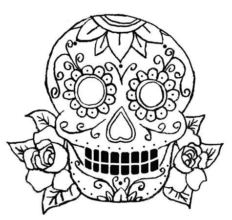 475x450 Drawn Sugar Skull