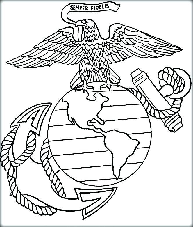 664x780 Marine Coloring Page Marine Coloring Page Marine Corps Printable