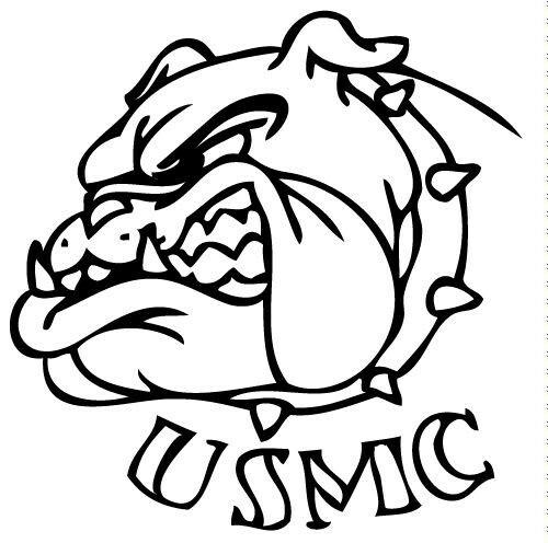 500x496 Marine Bulldog Drawings Tattoos Art Marine Corps