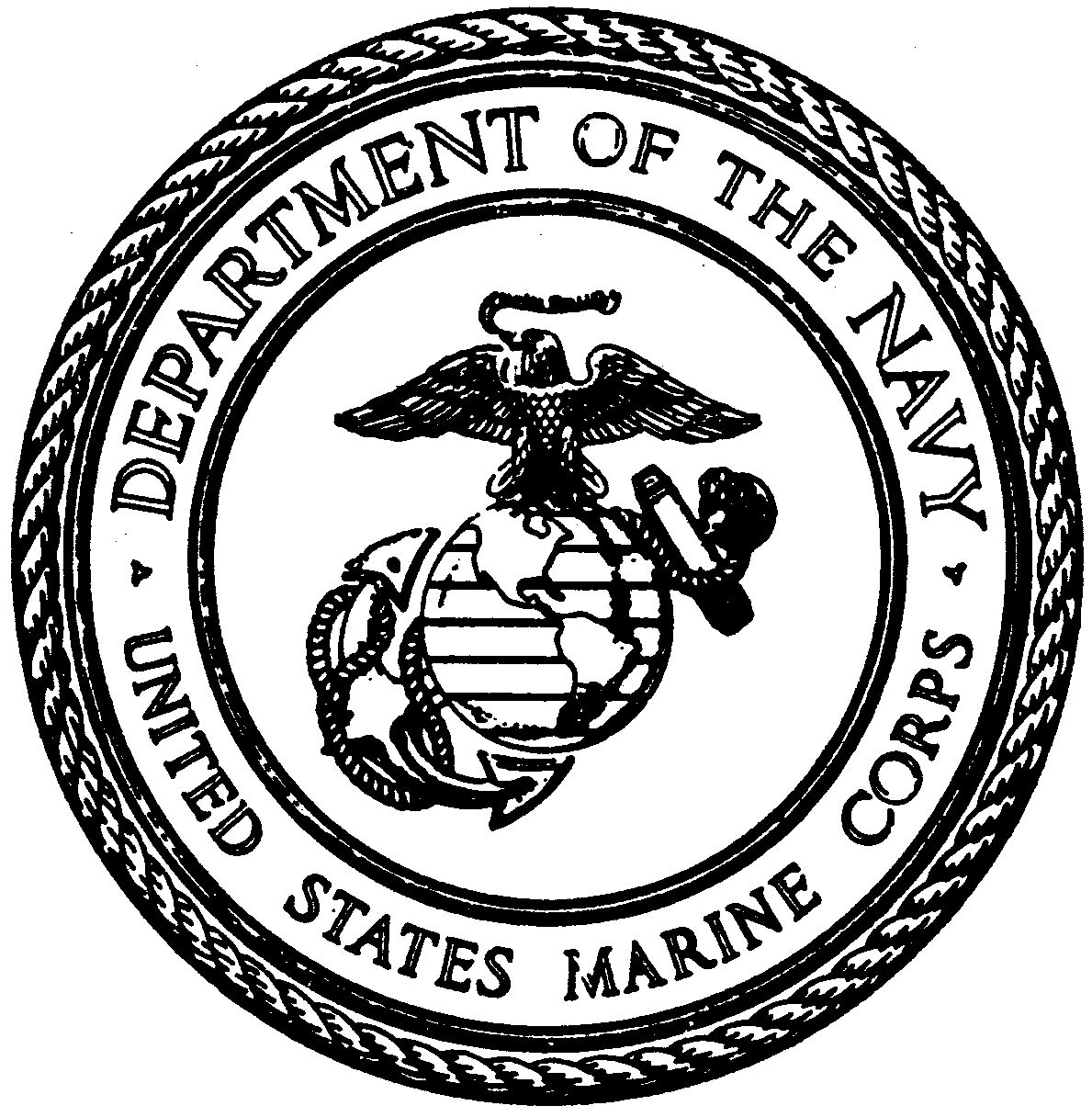 Marine corps logo drawing at free for for United states seal coloring page