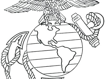 440x330 Marine Corps Coloring Pages Marine Corps Symbol Colouring Pages Us