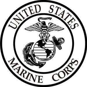 300x300 Usmc Marine Corp Logo Window Wall Sticker Vinyl Car Decal