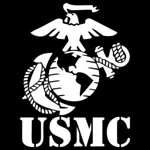 300x300 Usmc Marine Corps Vinyl Decal Car Truck Window Veteran Military