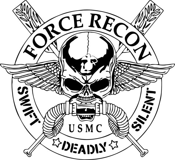 570x522 Force Recon United States Marine Corps Car Truck Window Laptop