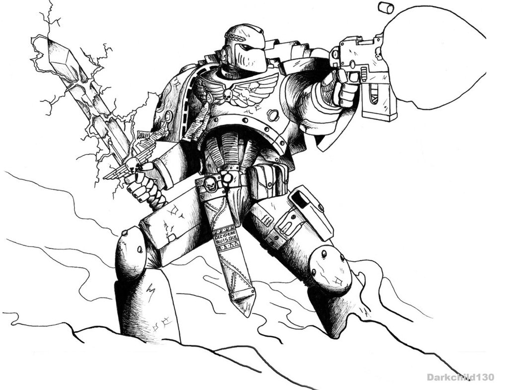 1018x785 Commission Blue Hawks Space Marine By Darkchild130