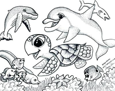 400x318 Ocean Animal Coloring Pages Crab Animal Coloring Pages 4 Dazzling