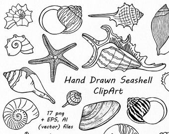 340x270 Big Set Of Doodle Marine Life Clipart, Sea Life Clip Art, Ocean