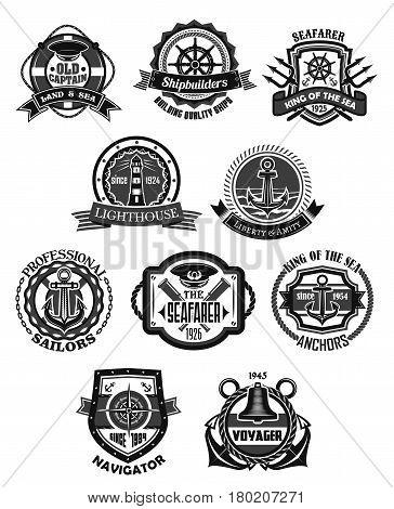 364x470 Nautical Emblem Marine Heraldic Vector Amp Photo Bigstock