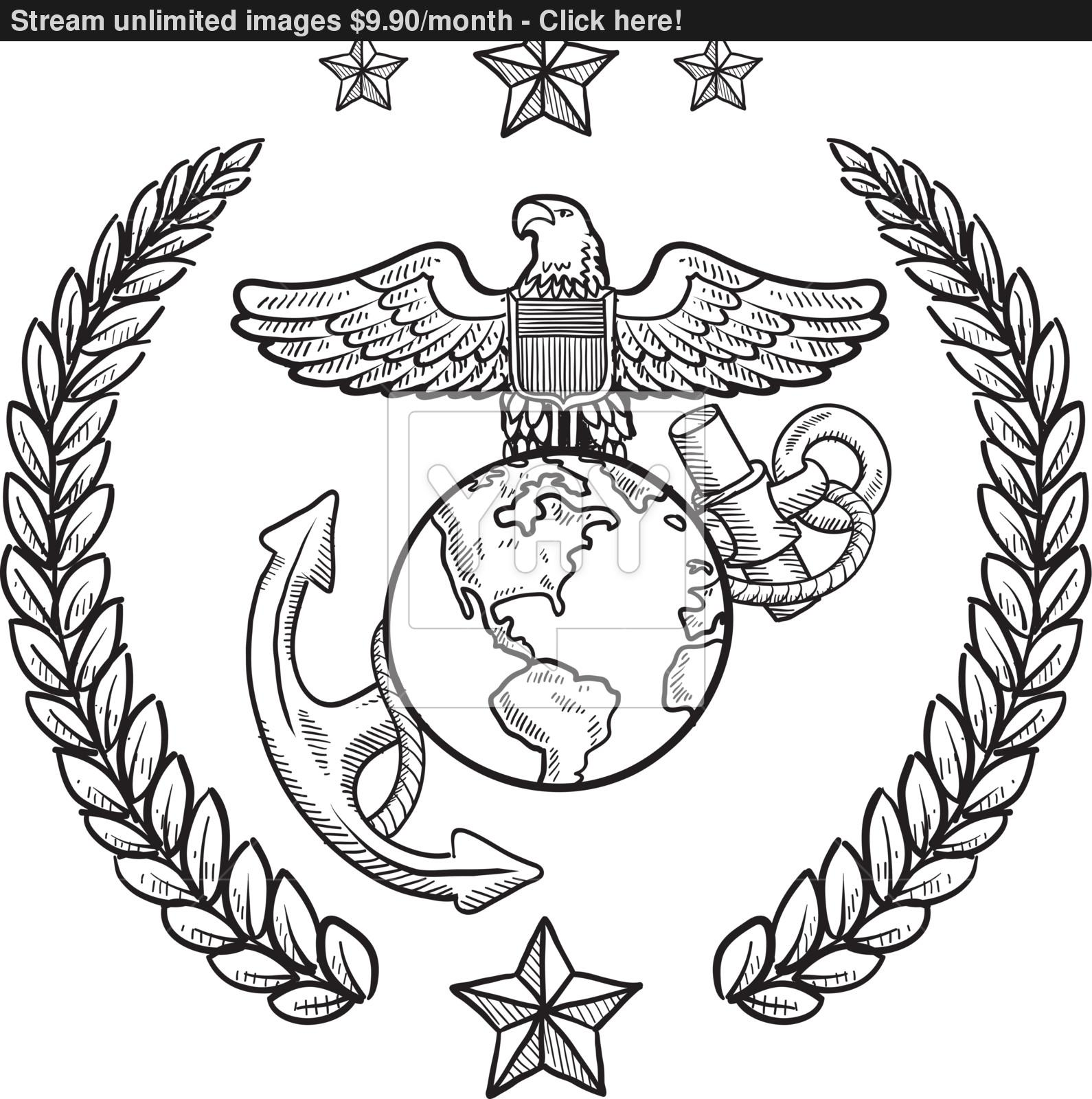 1590x1600 Us Marine Corps Vector Insignia Vector
