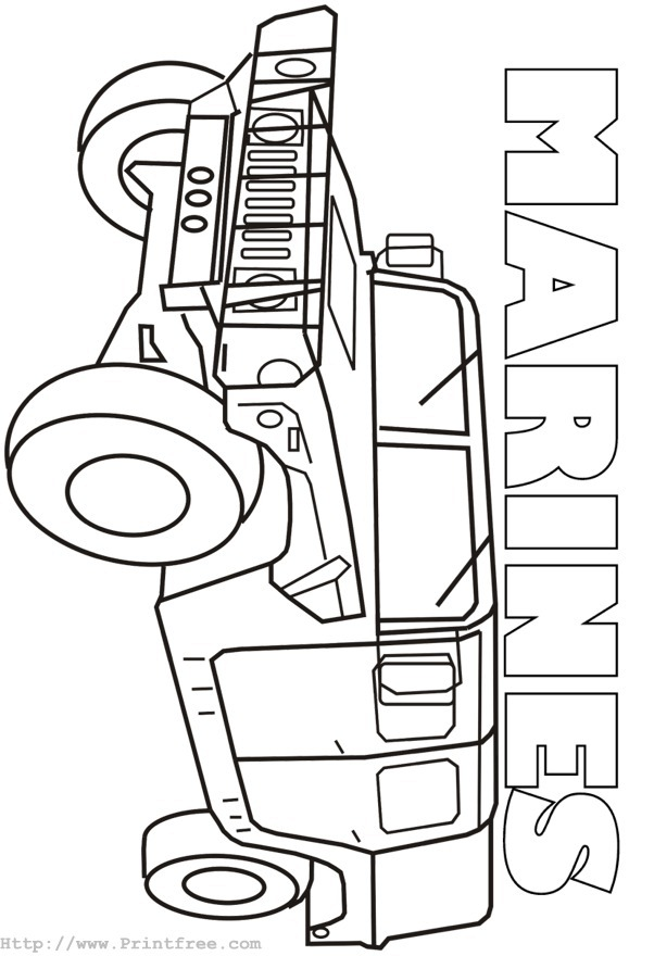 602x880 Marine Corps Coloring Pages