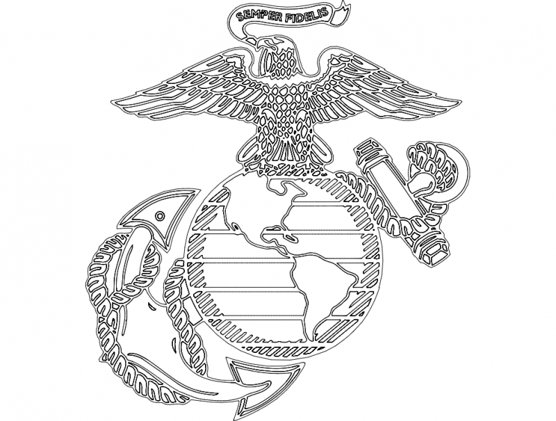 800x606 Marine Symbol Dxf File Free Download