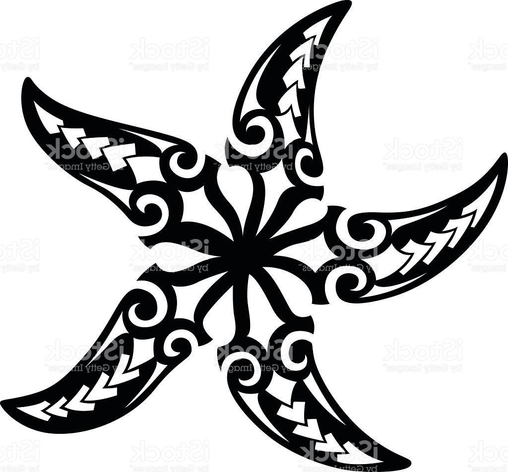 1024x952 Best Tribal Starfish Vector Drawing