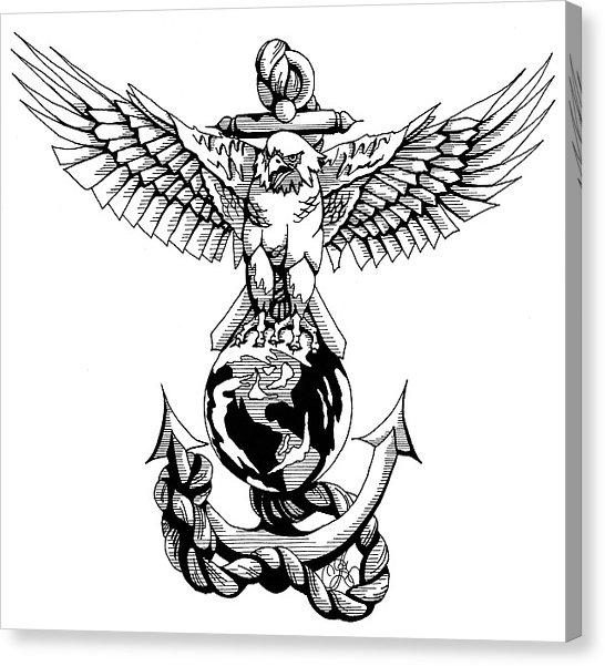 546x601 Marines Drawing By Scarlett Royal