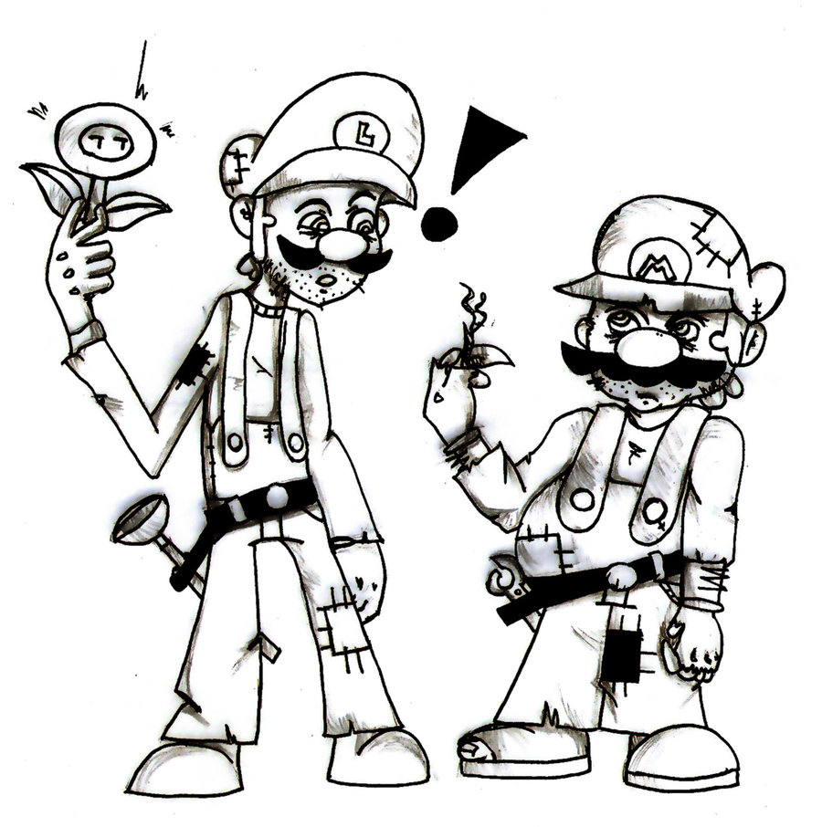 900x906 Mario And Luigi Drawing Mario And Luigi By Multimouths