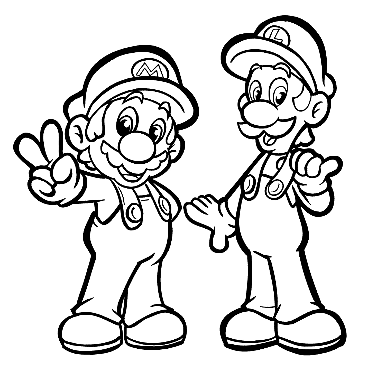 1432x1483 Mario And Luigi Drawing Mario And Luigi Coloring Pages For Kids