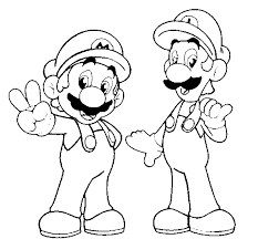 233x216 Super Mario Luigi Coloring Pages Super Mario Luigi Coloring
