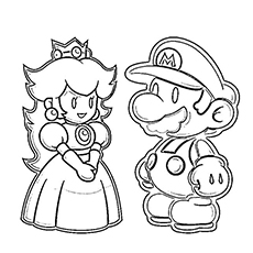 230x230 Top 20 Free Printable Super Mario Coloring Pages Online