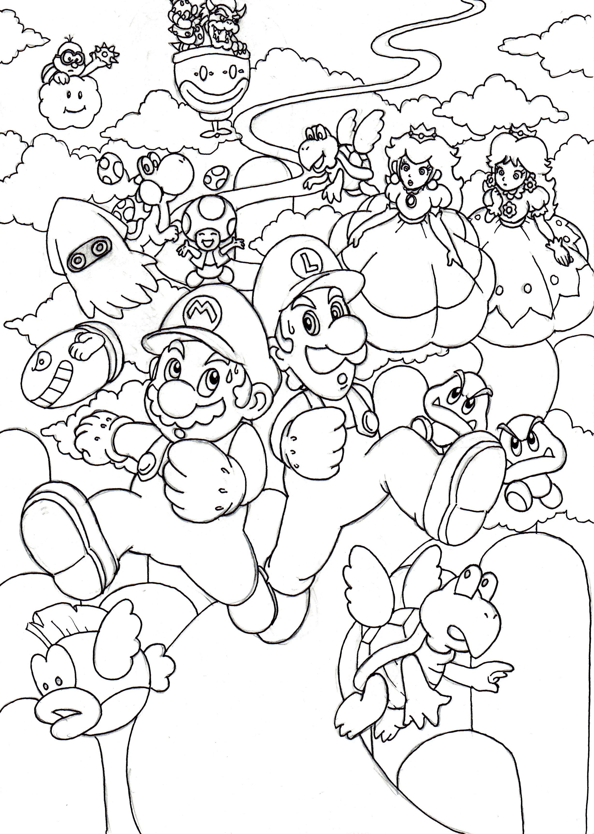 Niedlich Mario Bros Bowser Ausmalbilder Ideen - Entry Level Resume ...