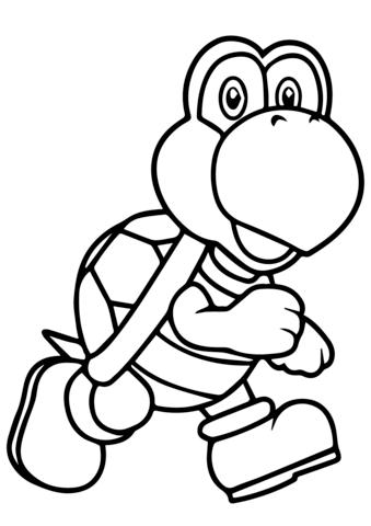339x480 Mario Bros Koopa Troopa Coloring Page Free Printable Coloring Pages