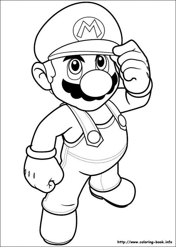 567x794 Mario Bros. Coloring Picture