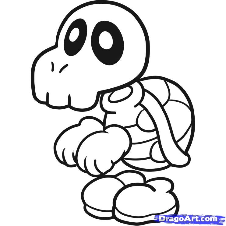 742x742 Mario Dry Bones Coloring Pages Printable Fire