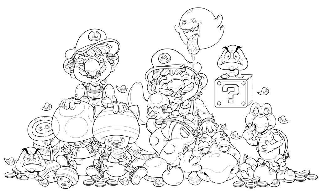 1024x616 Super Mario Bros And Friends