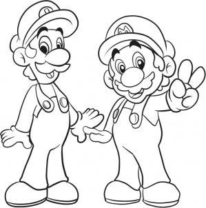 299x302 How To Draw Mario Bros