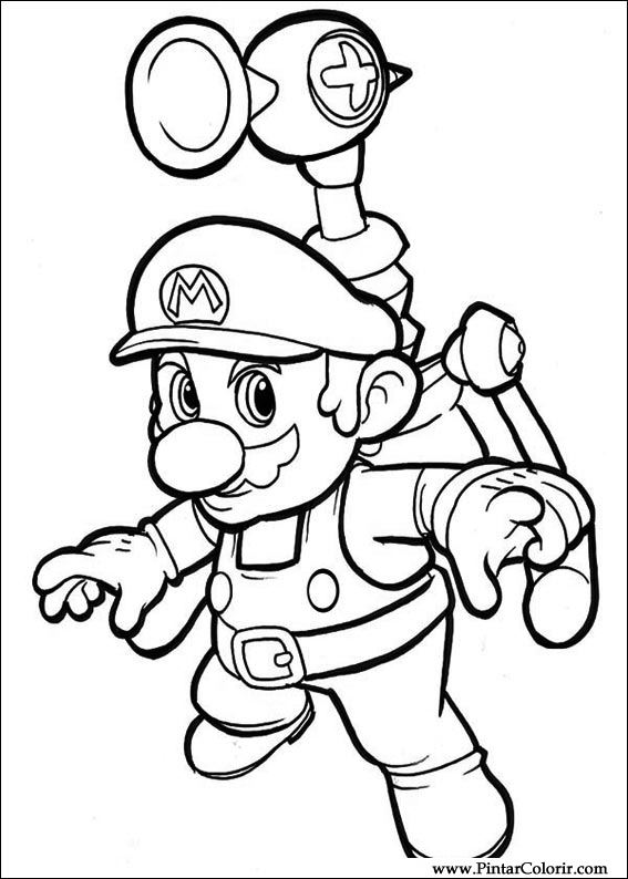 567x794 Drawings To Paint Amp Colour Super Mario Bros