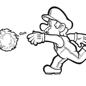 300x300 Drawn Mario Fire Flower