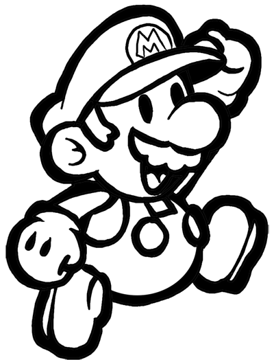 400x524 How To Draw Classic Mario Bros Or Paper Mario With Easy Step By