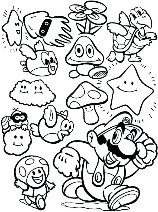 Mario Brothers Drawing At Getdrawingscom Free For Personal Use - Coloring-pages-super-mario