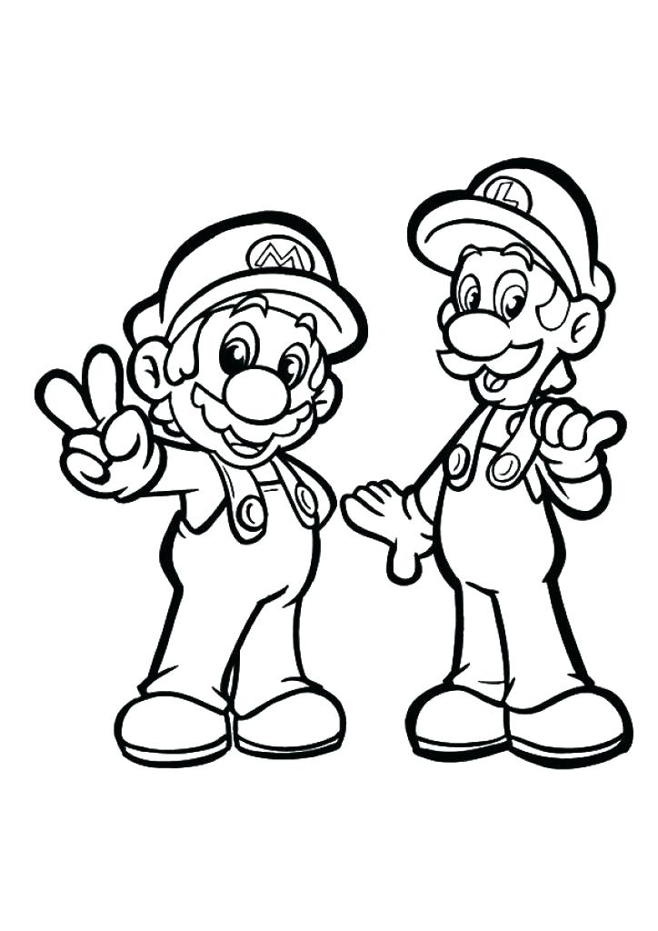 724x1024 Mario Brothers Coloring Pages Super