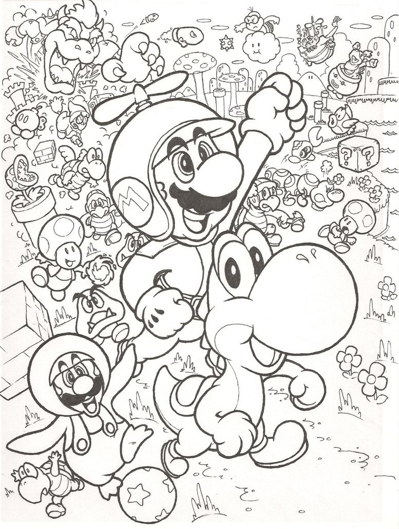 Mario Brothers Drawing At Getdrawings Com Free For