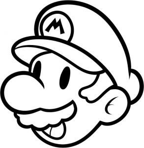 Mario Cartoon Drawing